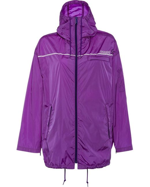 Prada Purple Nylon Gabardine Jacket