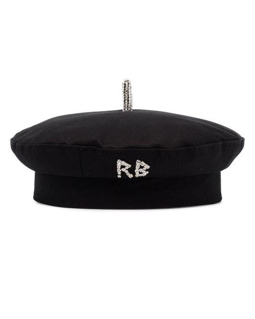 Ruslan Baginskiy ビジューロゴ ベレー帽 Black