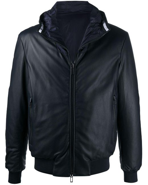 メンズ Emporio Armani フーデッドジャケット Blue