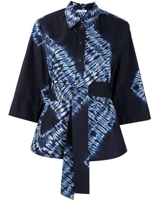P.A.R.O.S.H. ベルテッド グラフィック シャツ Blue