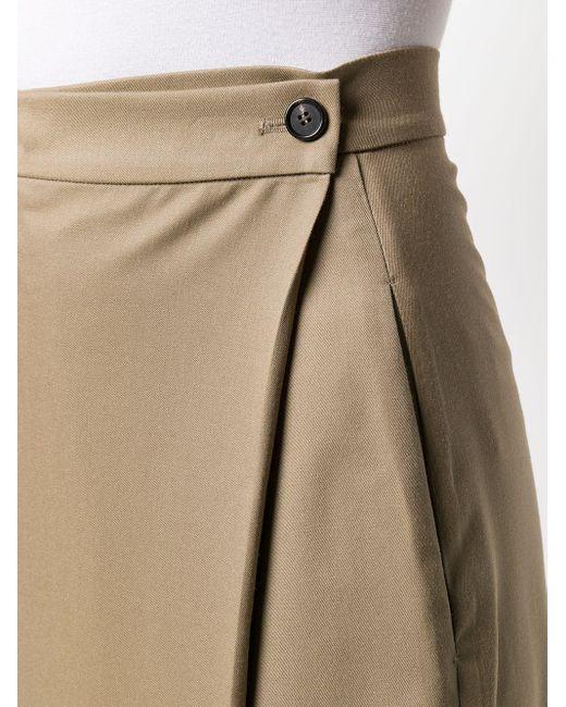 Low Classic ボタン ラップスカート Multicolor