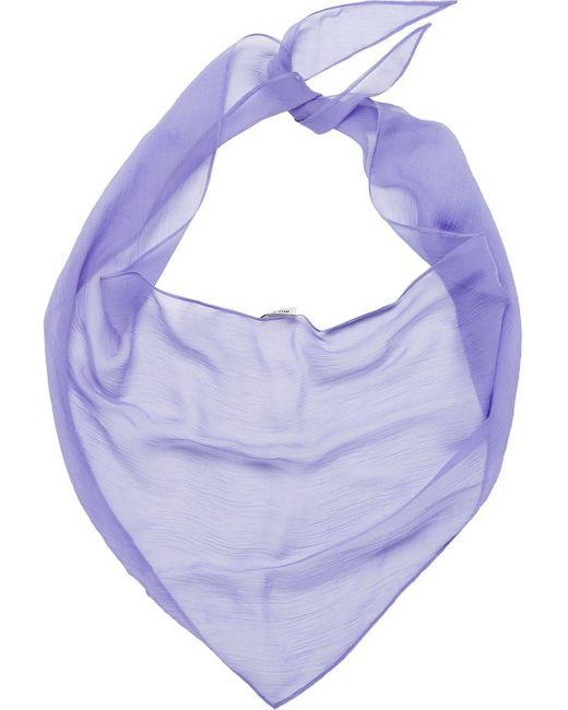 Miu Miu シアー スカーフ Purple