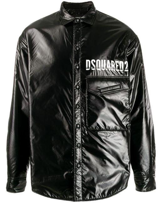 メンズ DSquared² コントラスト パデッドジャケット Black