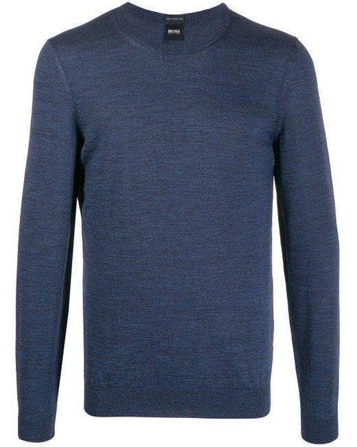 メンズ BOSS ロングスリーブ セーター Blue
