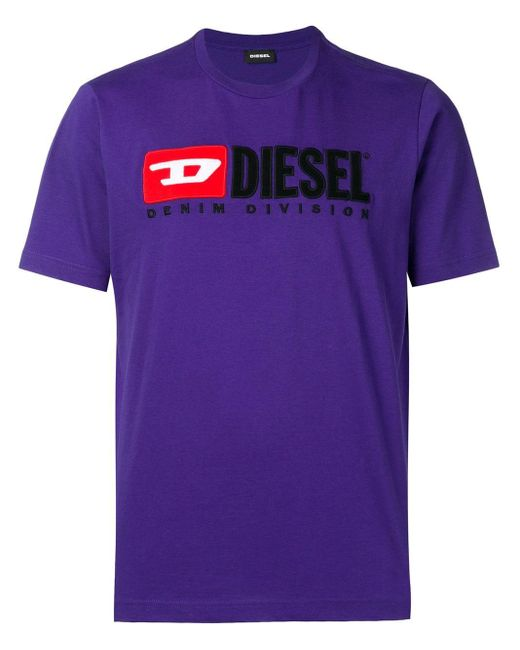 メンズ DIESEL T-just-division Tシャツ Purple