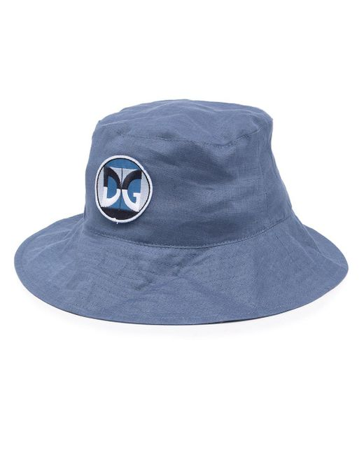 Панама С Нашивкой-логотипом Dolce & Gabbana для него, цвет: Blue