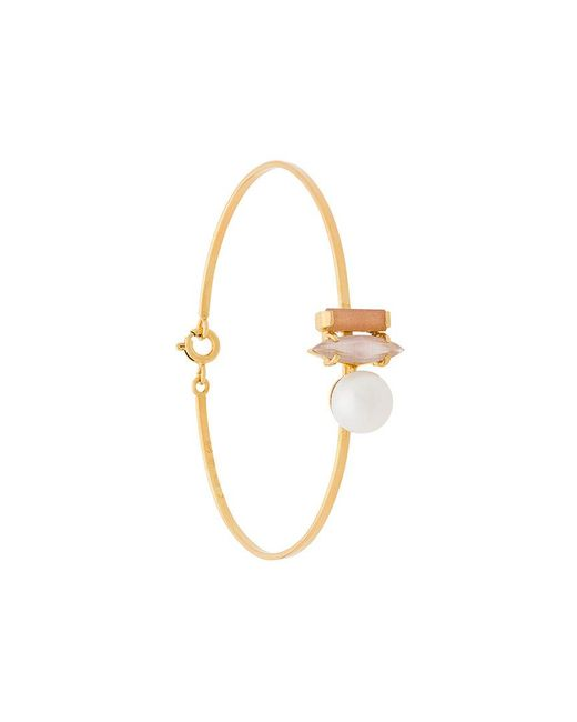 Wouters & Hendrix - Metallic Technofossils Sunstone, Cat's Eye And Pearl Bracelet - Lyst