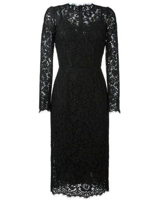 Dolce & Gabbana レース タイト ドレス Black