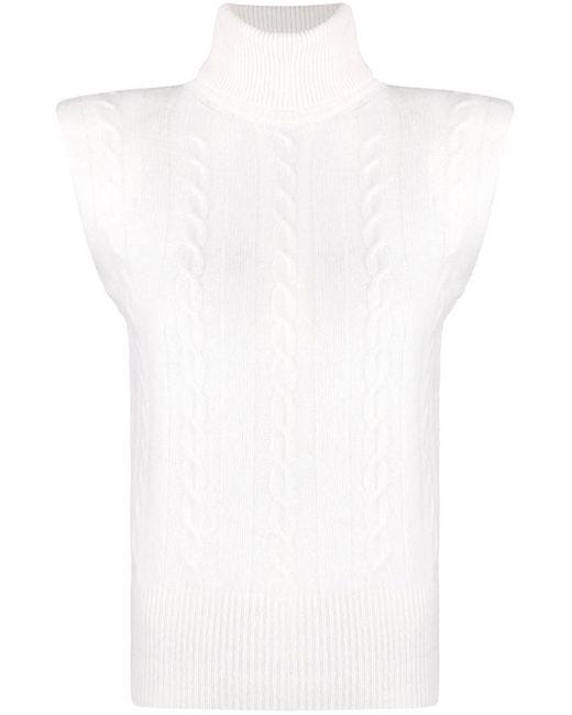 Джемпер Без Рукавов С Высоким Воротником FEDERICA TOSI, цвет: White