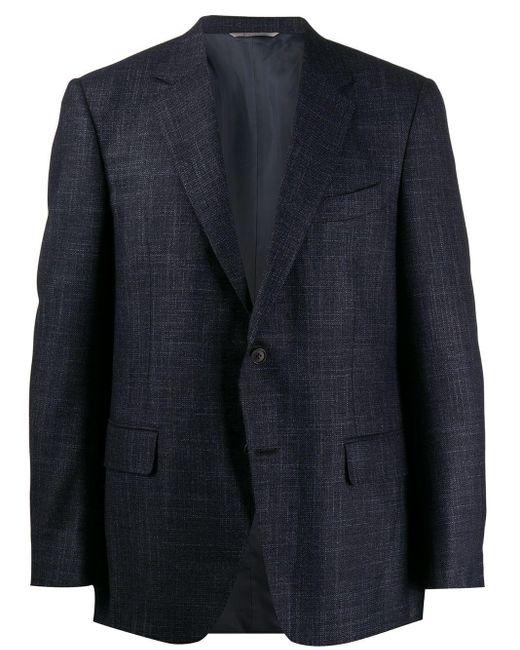 メンズ Canali シングル ジャケット Blue