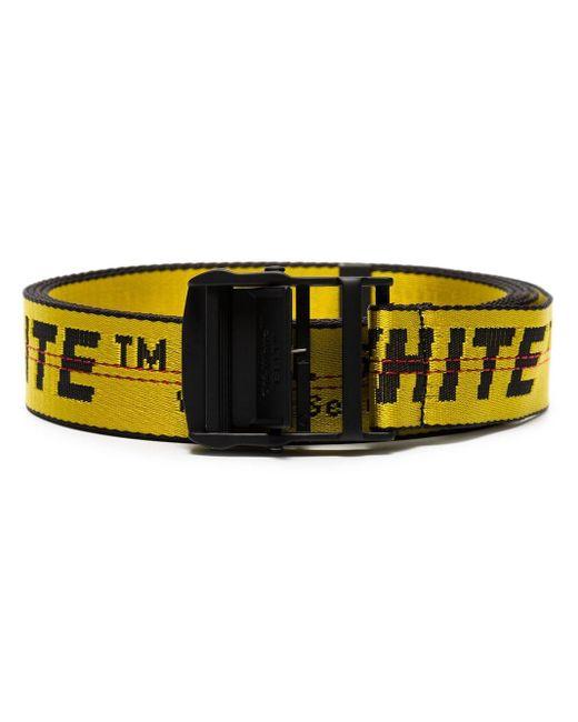 Off-White c/o Virgil Abloh Black And Yellow Industrial Logo Belt for men