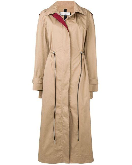 Victoria Beckham Oversized Trench Coat Natural