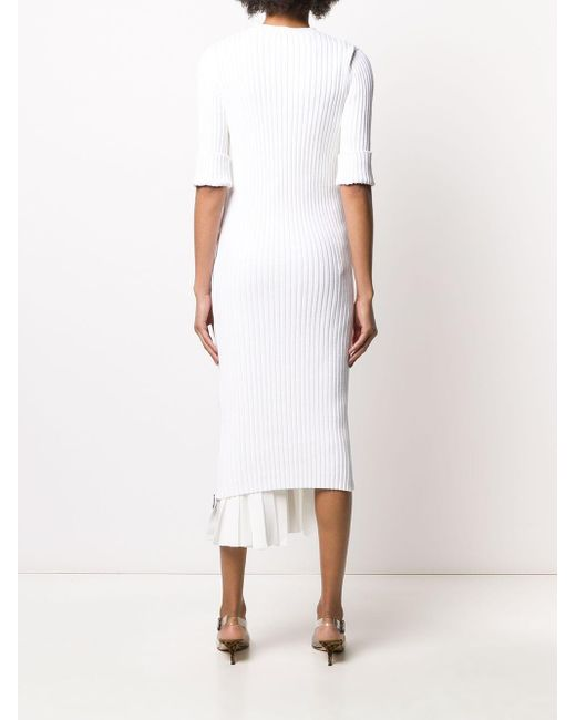 N°21 プリーツドレス White