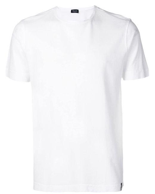 メンズ Drumohr ラウンドネック Tシャツ White