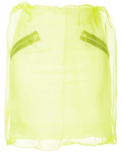 Yang Li Yellow Organza Layered Mini Skirt
