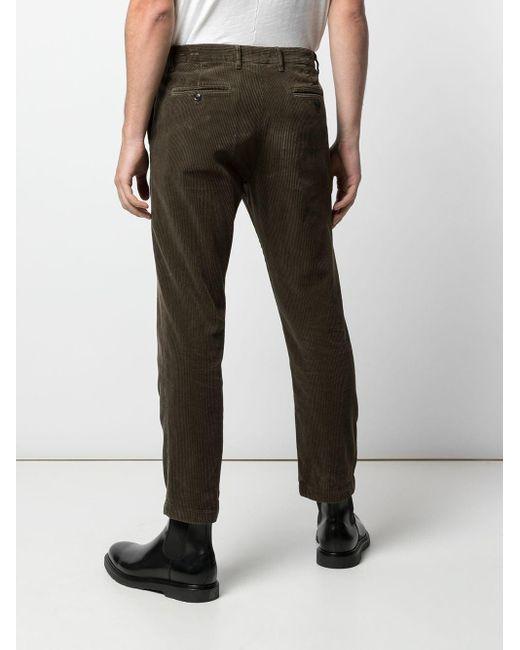 Pantalon droit en velours côtelé Closed pour homme en coloris Green