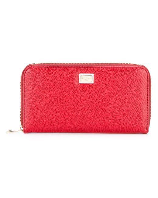 Dolce & Gabbana Continental 長財布 Red