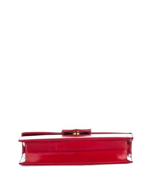 Dior プレオウンド フラップ ショルダーバッグ Red