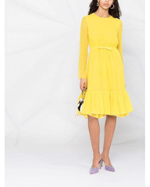 Giambattista Valli リボン ドレス Yellow