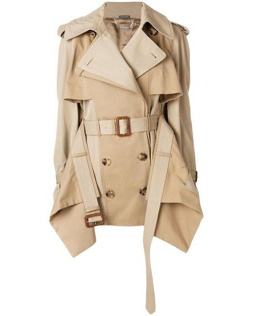 Alexander McQueen - Brown Layered Trench Coat - Lyst
