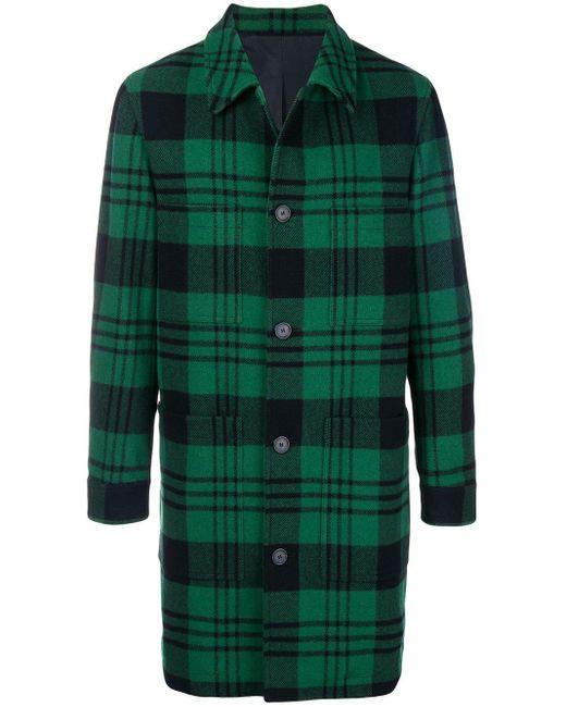 Manteau Droit Poches Plaquées AMI pour homme en coloris Green
