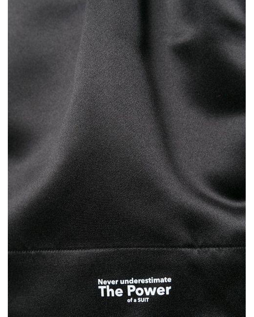 Styland ロゴ ワイドショートパンツ Black