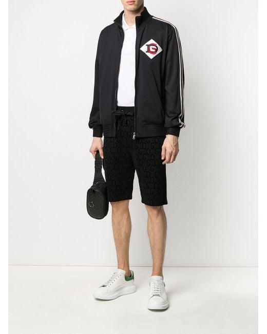 メンズ Dolce & Gabbana プリント トラックショーツ Black