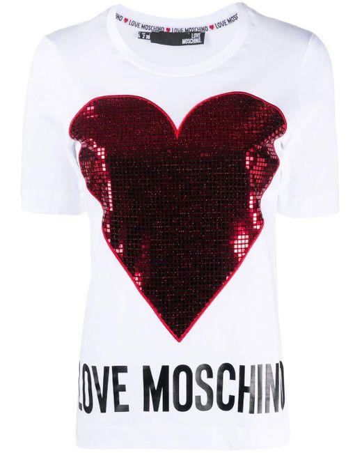 Love Moschino ハート Tシャツ White