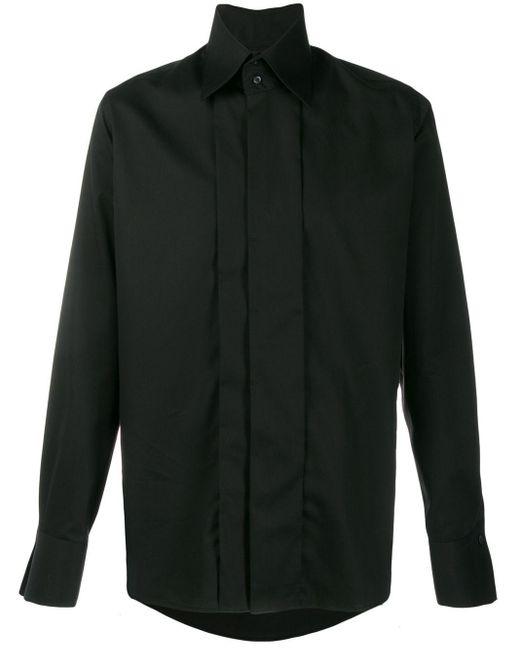 メンズ Karl Lagerfeld ポインテッドカラー シャツ Black