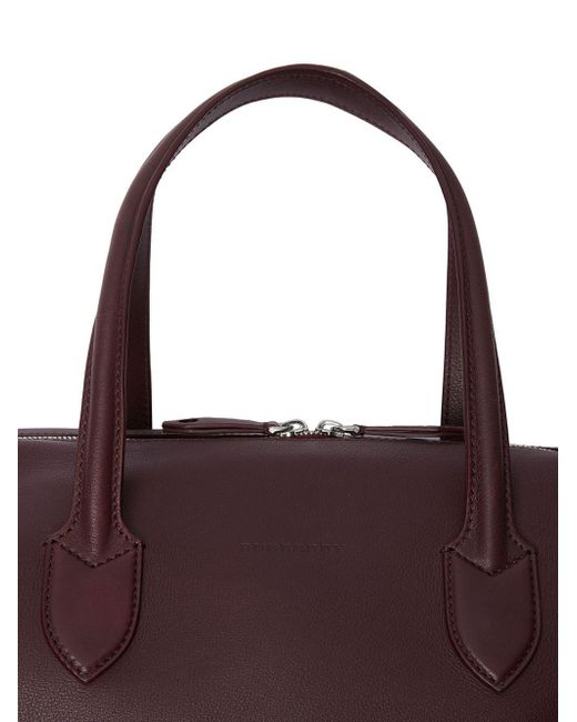 84c5a38e6547 ... Burberry - Purple Soft Leather Holdall for Men - Lyst ...