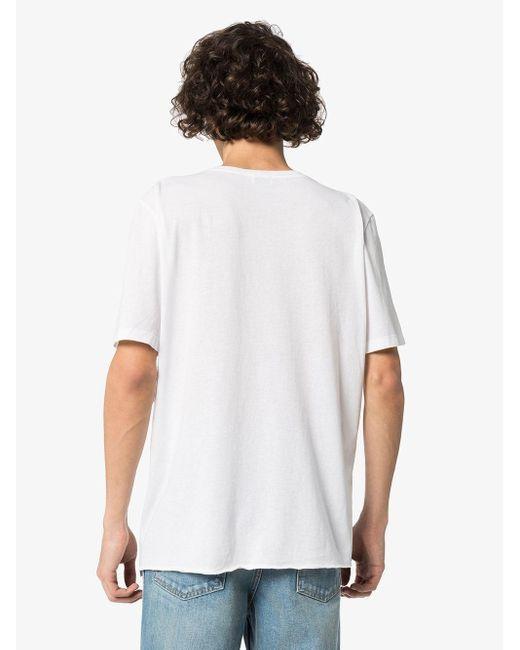Футболка С Принтом Saint Laurent для него, цвет: White