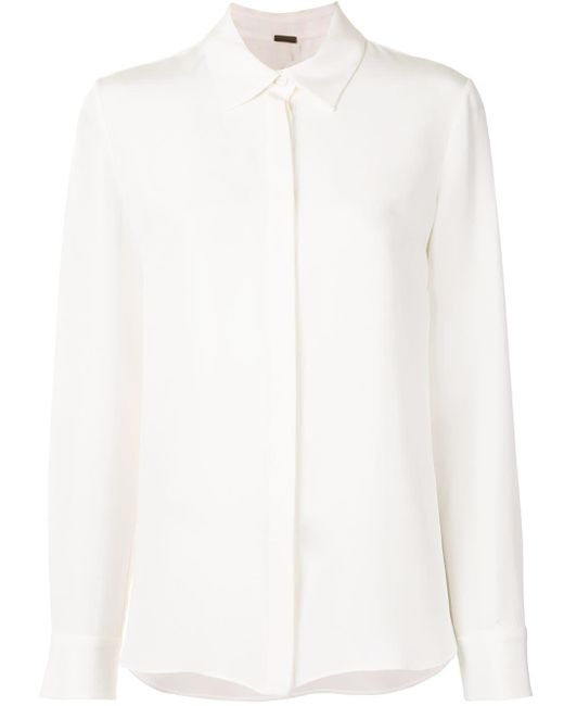 Adam Lippes シルクシャツ White