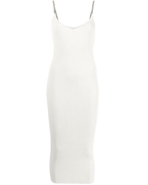 N°21 チェーントリム ドレス White