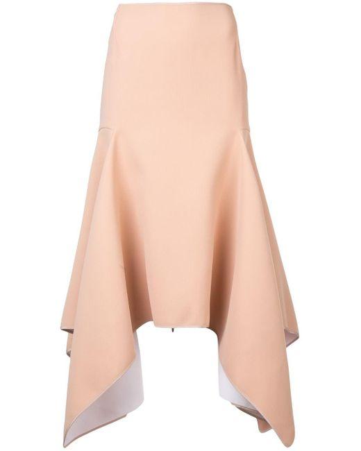 Maticevski High-waited Asymmetric Skirt Multicolor