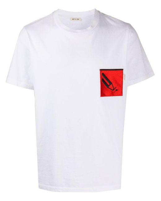 メンズ Marni パッチポケット Tシャツ White