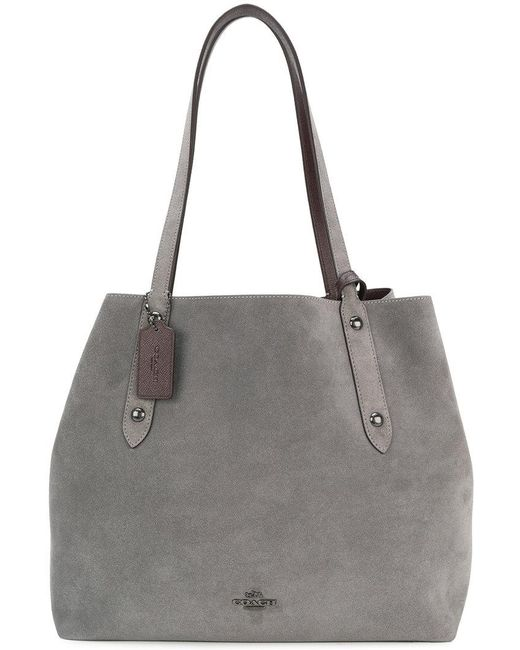 COACH | Gray Slouchy Tote | Lyst