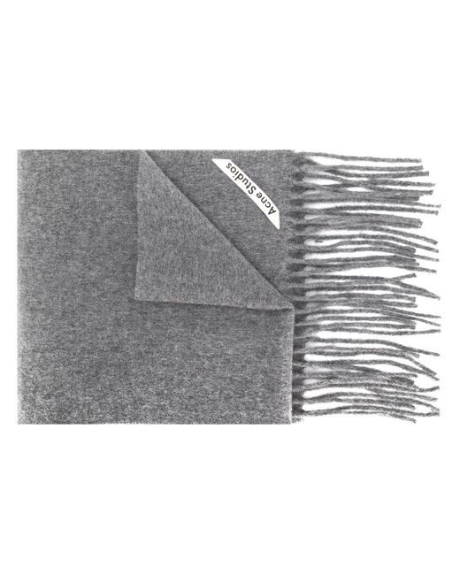 Acne Canada Skinny スカーフ Gray