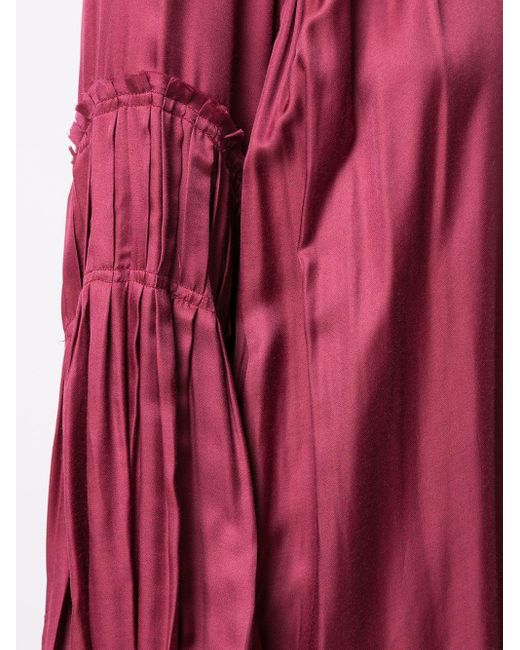 Платье Макси Со Сборками Ann Demeulemeester, цвет: Purple