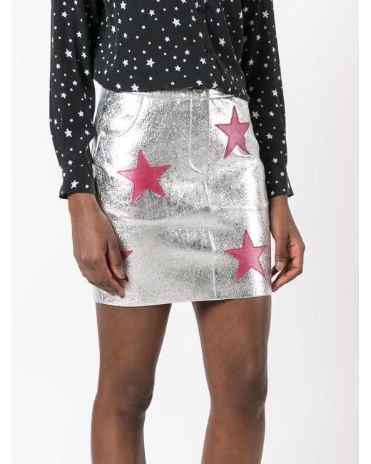 Stars patches metallic skirt di Zoe Karssen in Multicolor