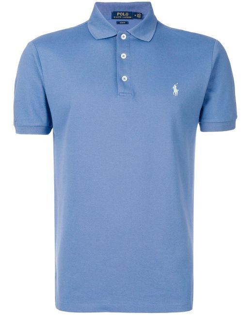 メンズ Polo Ralph Lauren スリムフィット ポロシャツ Blue