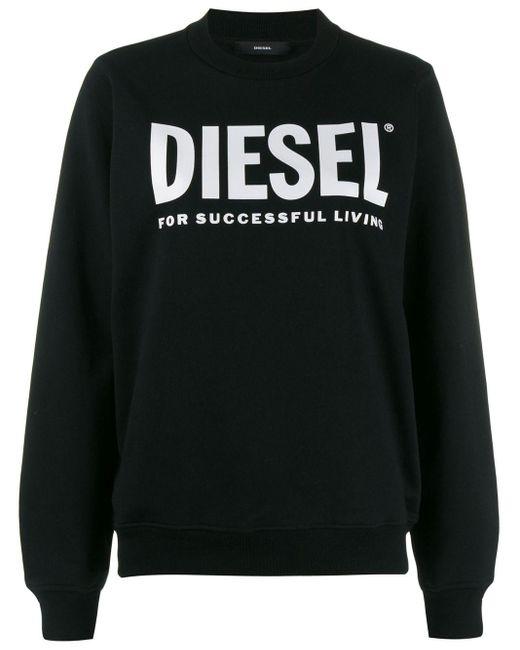 DIESEL ロゴプリント スウェットシャツ Black