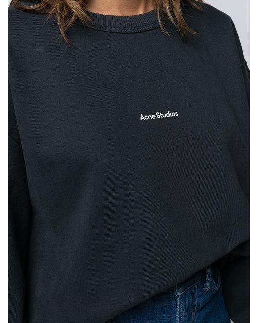 Толстовка С Логотипом Acne, цвет: Black