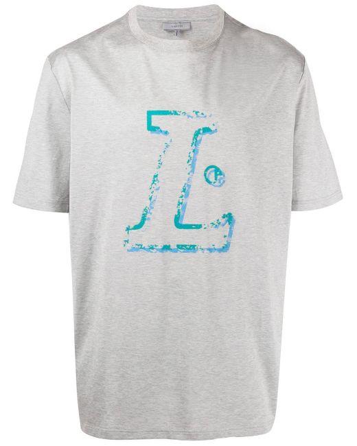 メンズ Lanvin ロゴ Tシャツ Multicolor
