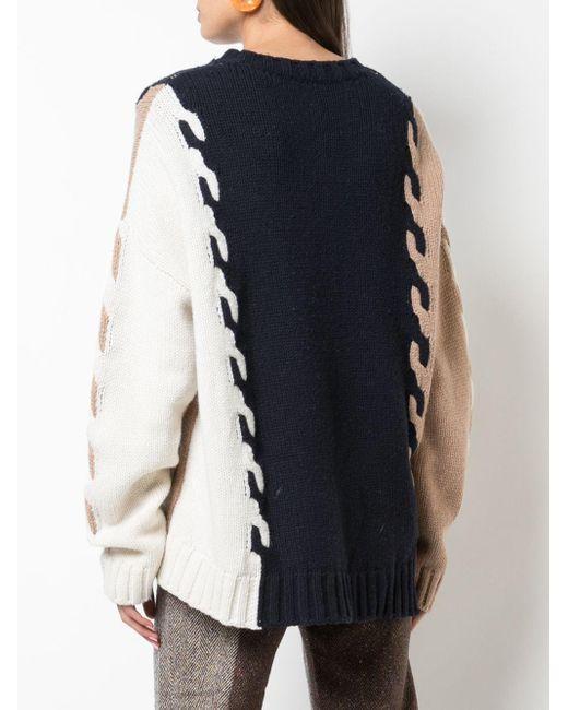 Monse カラーブロック セーター Blue