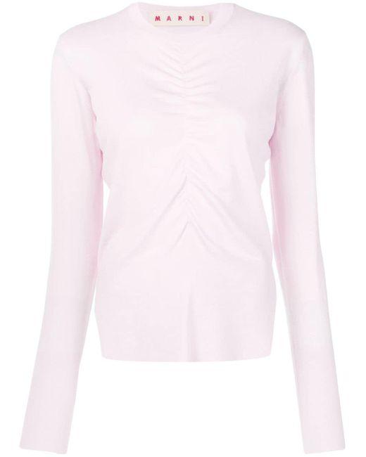 Marni ギャザー セーター Pink