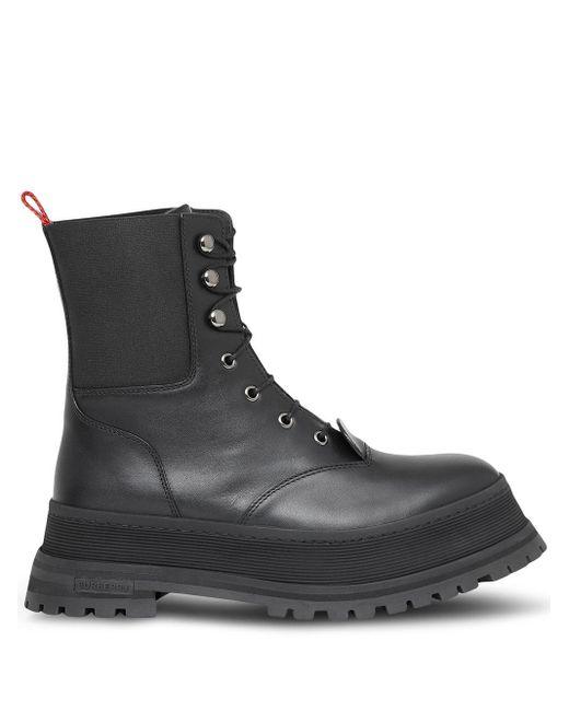 Burberry Black 'Iconic' Stiefel