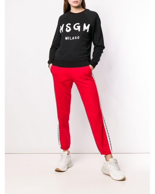 Толстовка С Логотипом MSGM, цвет: Black
