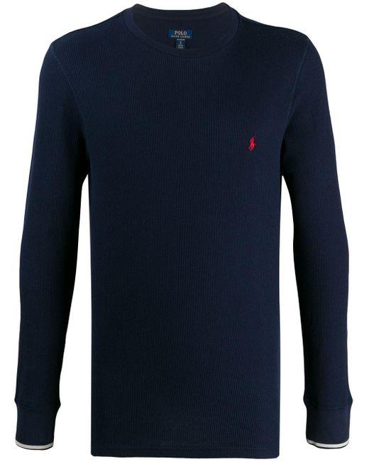 メンズ Polo Ralph Lauren リブ パジャマトップ Blue