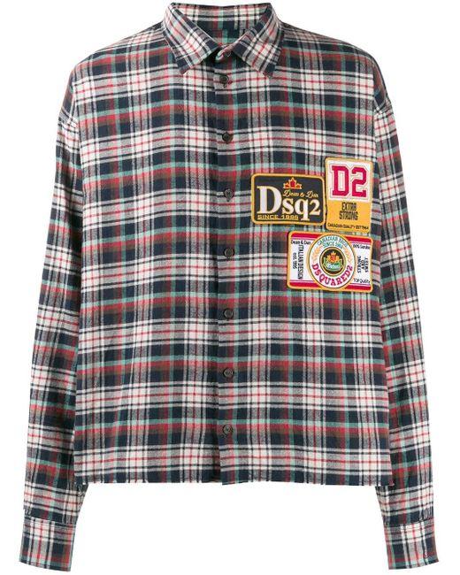 メンズ DSquared² ロゴパッチ シャツ Multicolor