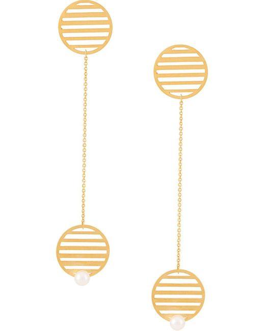 Hsu Jewellery ラウンドピアス Metallic